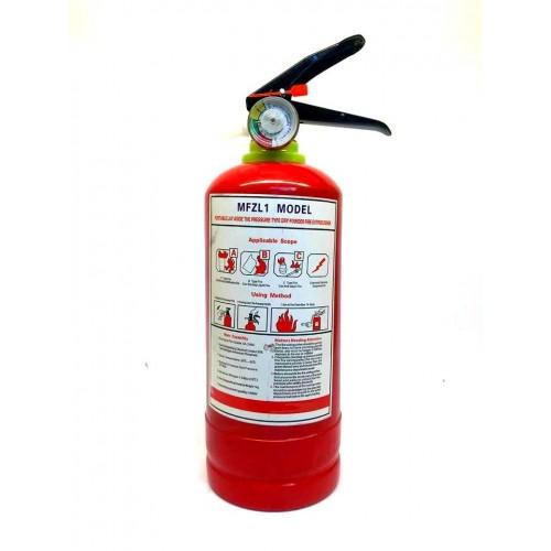 Прахов пожарогасител за кола с манометър 1кг