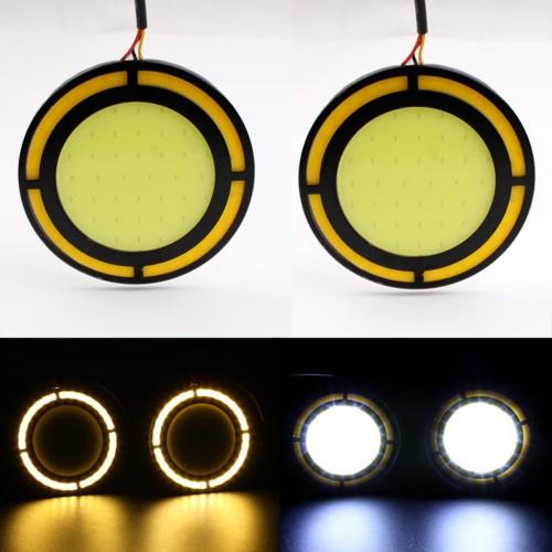 Дневни светлини LED DRL кръгли 30W супер силни мигач водоустойчиви